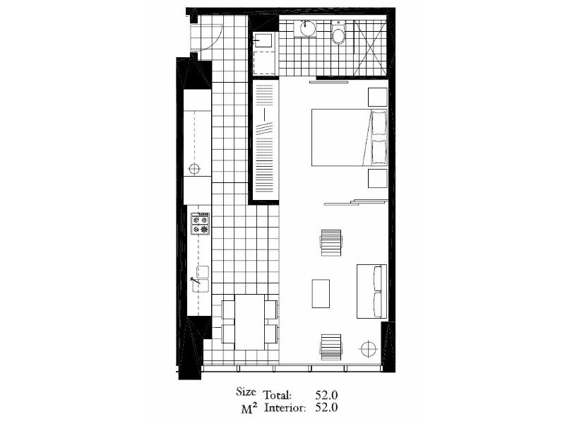 Apartment 1511 at freshwater place serviced apartments for 15 dunham place floor plans